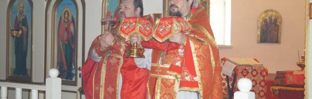 В Покровской церкви г. Городище состоялось праздничное богослужение, посвященное Антипасхе
