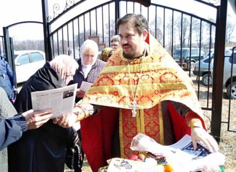 В день Радоницы в храме Михаила-Архангела села Вышелей совершилось пасхальное поминовение усопших